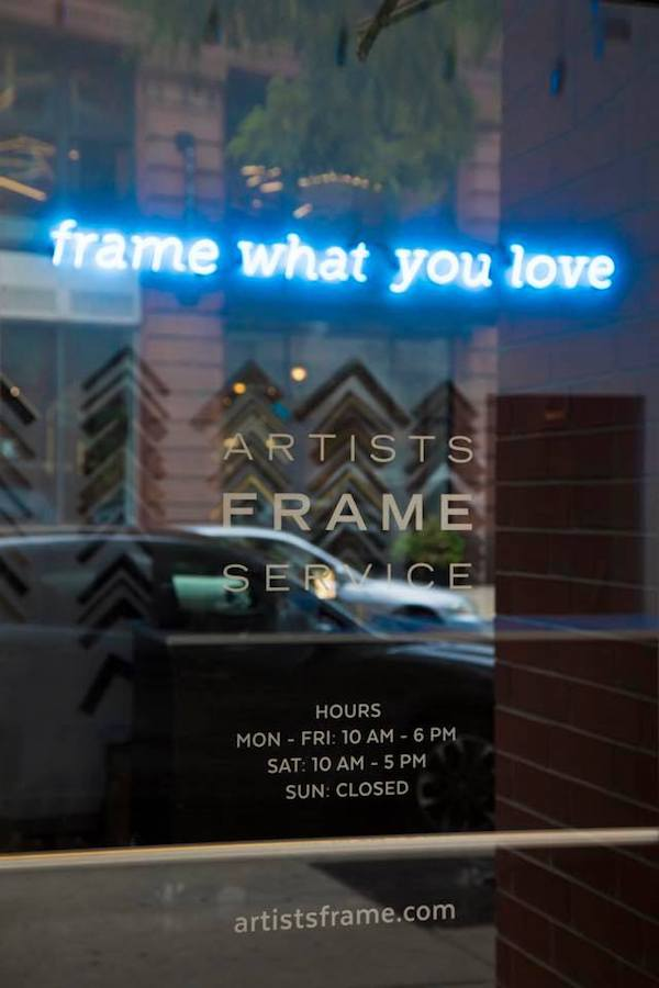 Above:  Frame What You Love. Love What You Frame. That statement is at the core of what we do so of course we had to celebrate it with a funky neon sign at  #afsrivernorth.    Below:  Fun and festive balloons kicked off our first day open at our  newest showroom in River North , in the heart of the design district!