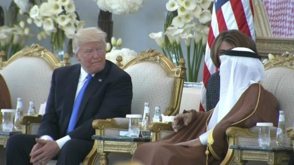 Embattled Trump starts foreign tour with Saudi arms deal - See perspective on this story
