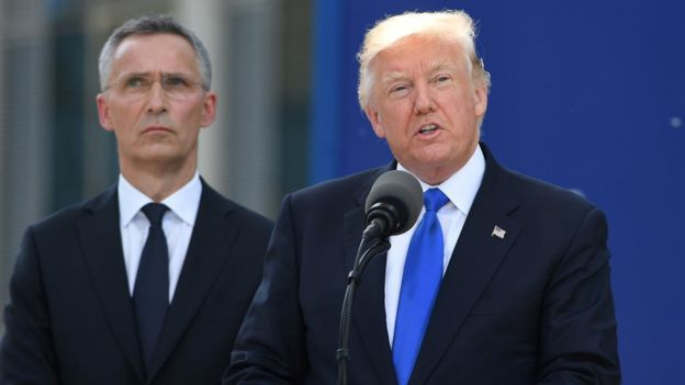 Trump tells Nato allies to pay up - See the prespectives on this story