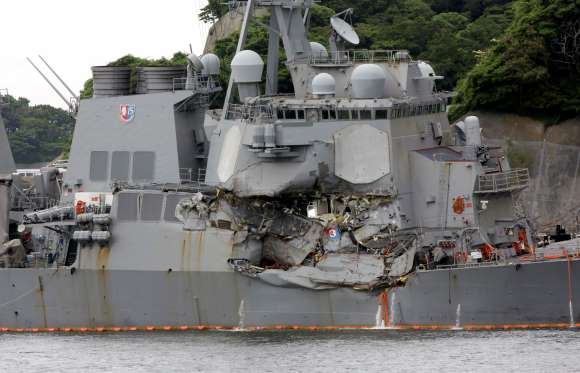 Big questions in US warship's collision with container ship - See perspective on this story