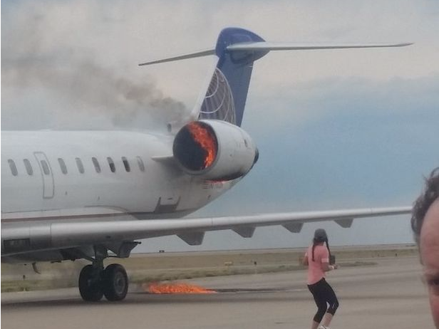 United jet catches on fire at Denver airport - Ferret out this news story