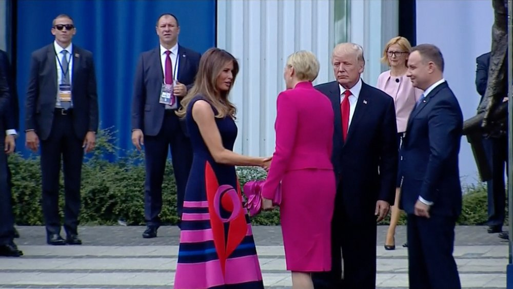 Polish president knocks 'fake news' over wife's Trump handshake - See perspectives on this story