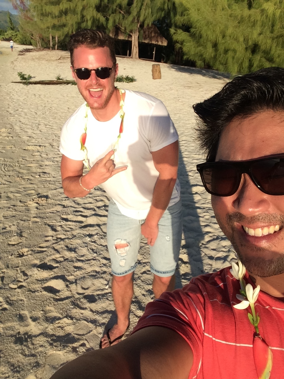 Selfie with my friend Jason in Tahiti