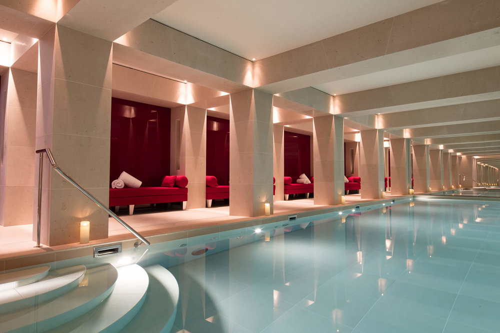 The pool at La Reserve Paris. Photo: La Reserve Paris