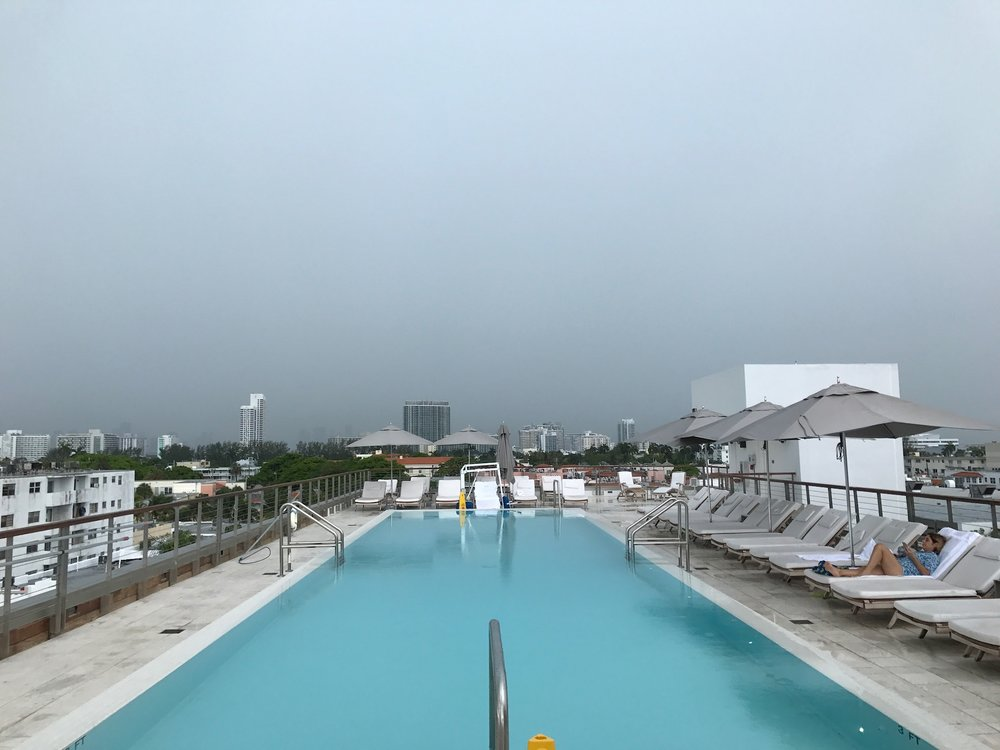 The infinity rooftop pool