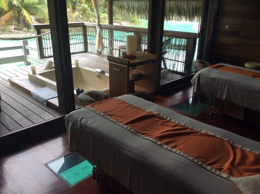 The spa at Four Seasons Bora Bora was amazing.