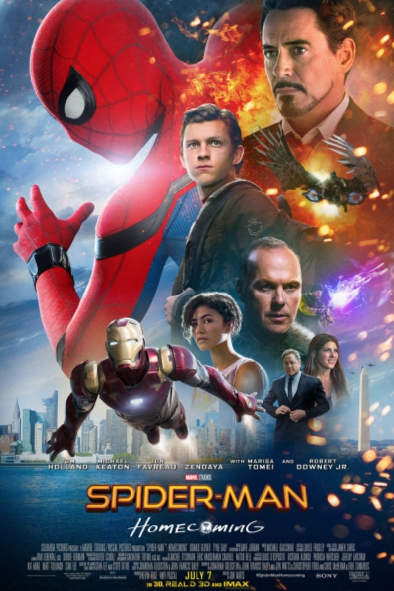 The movie poster for Spiderman Homecoming. Marvel Studios/Columbia Pictures.