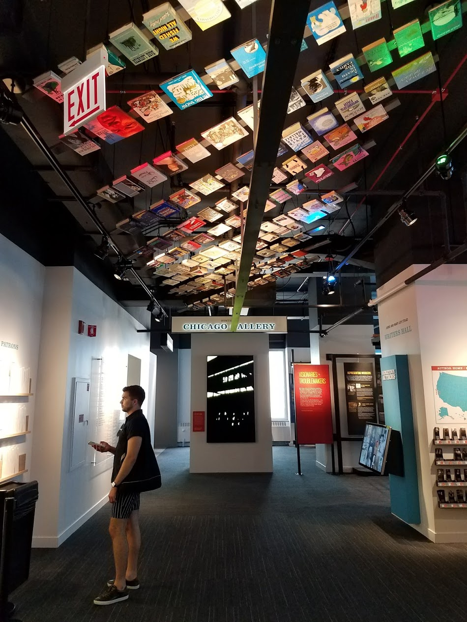 Inside the new American Writers Museum in Chicago.