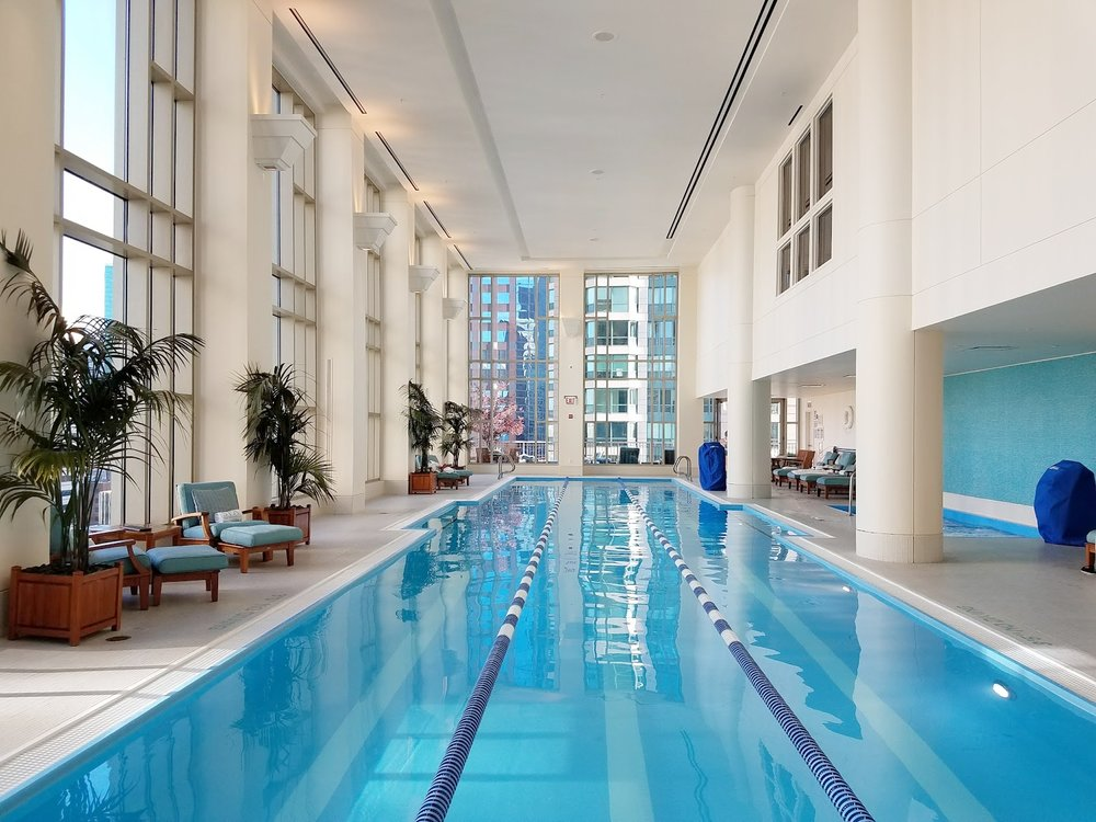 Peninsula Chicago hotel pool is insane.