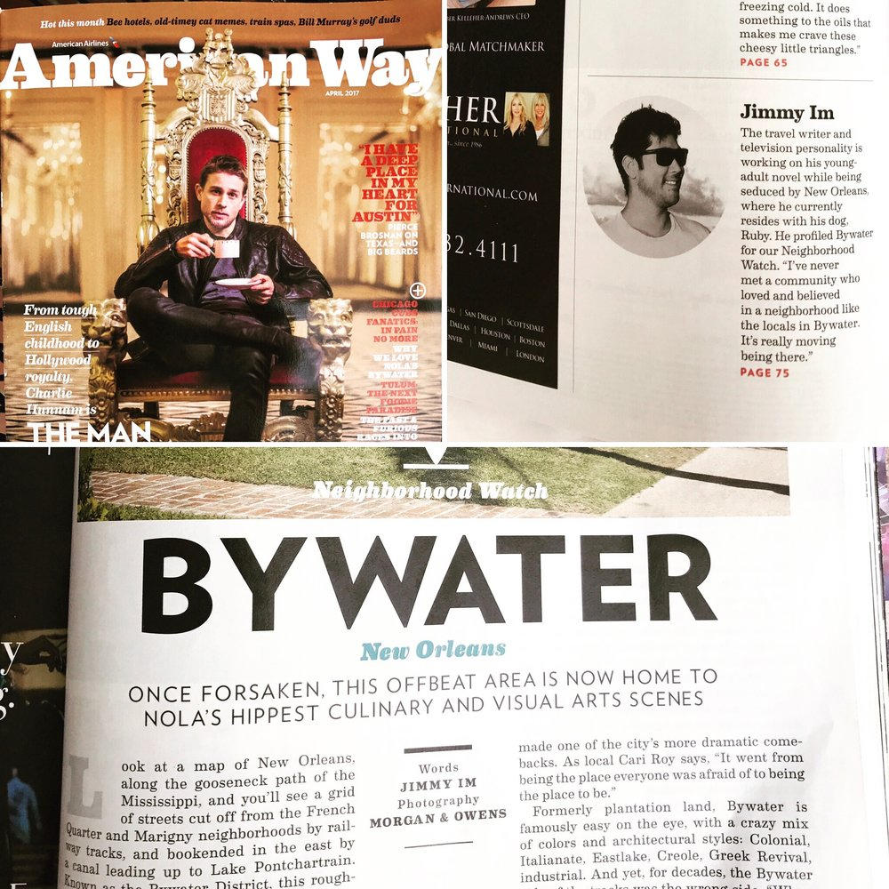 My story on the Bywater District for American Way magazine.