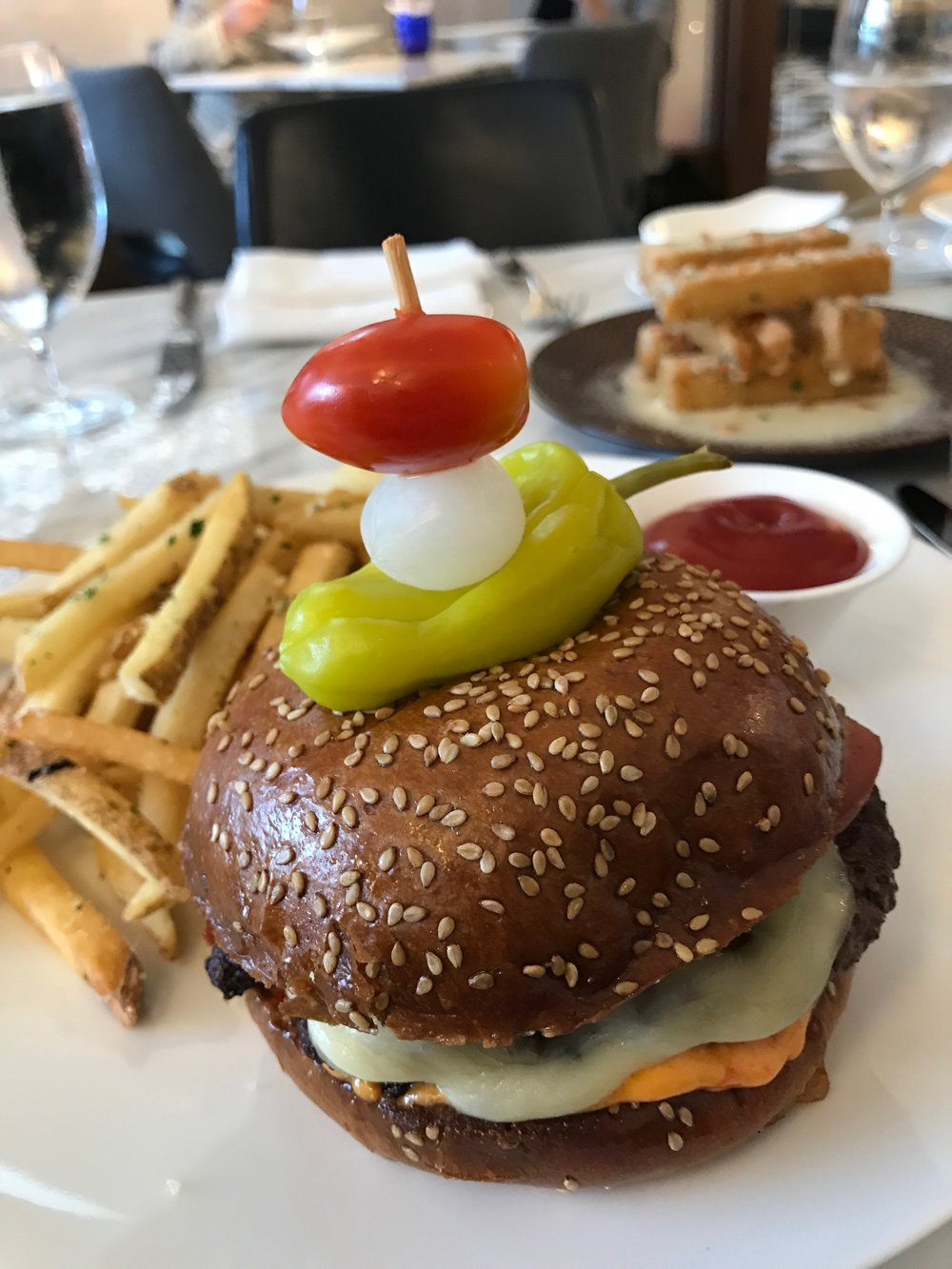 Now this is a burger.  Torali  at Ritz Carlton Chicago.