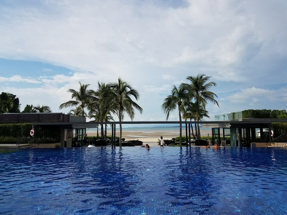 Infinity pool at  Phuket Marriott Resort Nai Yang Beach