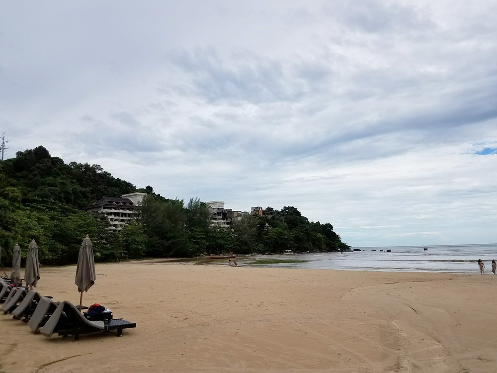 Private, secluded beach at Marriott Phuket.