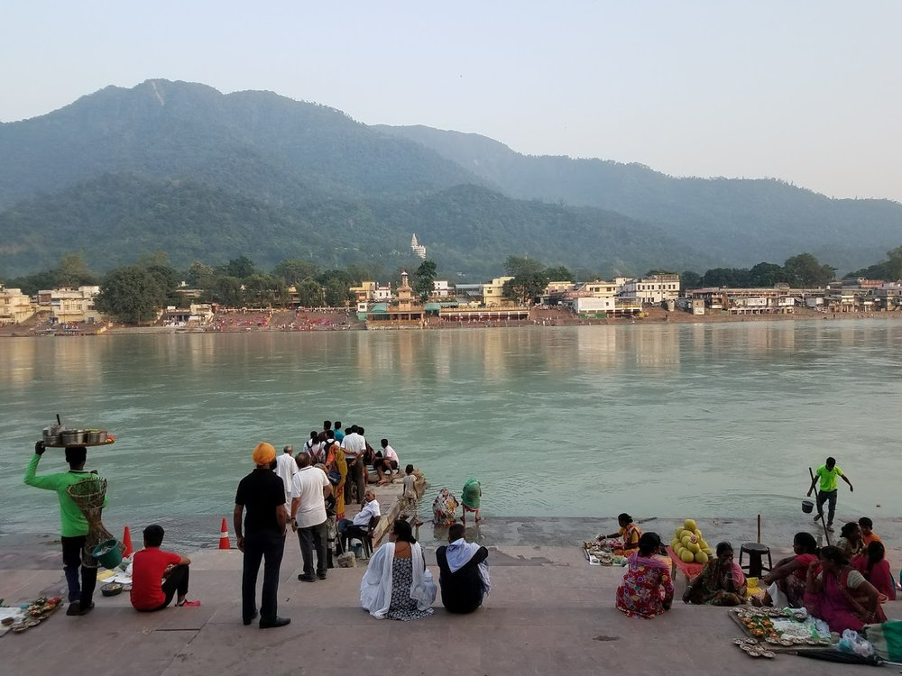 The beautiful colors of Rishikesh.