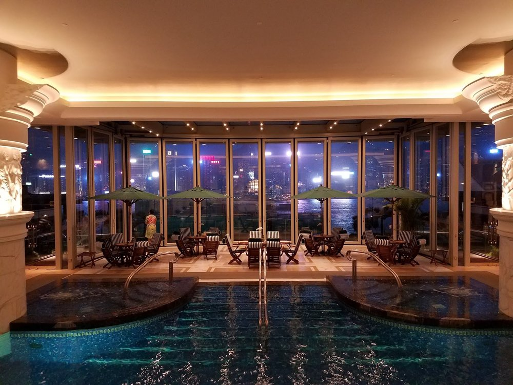 The pool at the Peninsula spa.