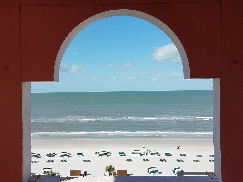 View of beach from Don Cesar.