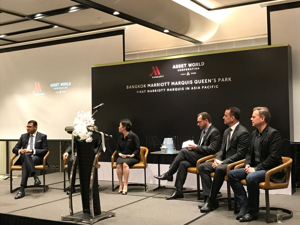 Marriott press conference in Bangkok.