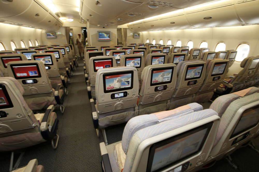 Emirates economy class about A380.