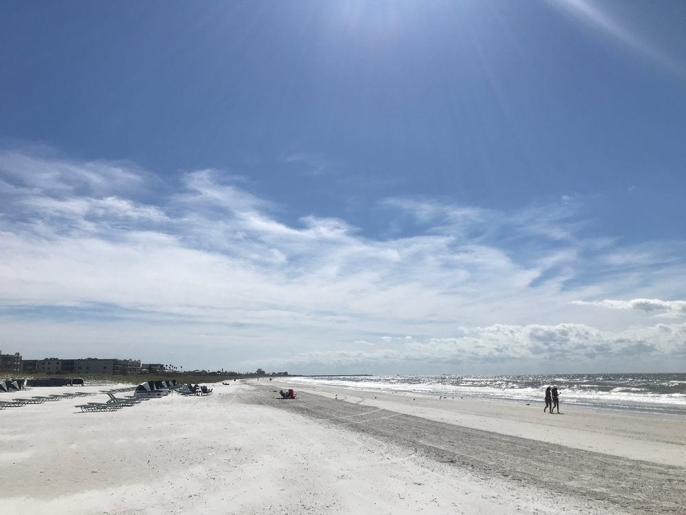 This is what the beach looks like during Dead Week.