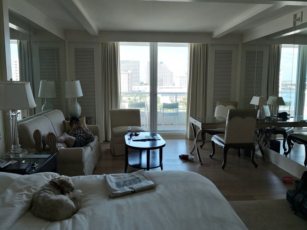 My room at Ritz Carlton Fort Lauderdale is huge.