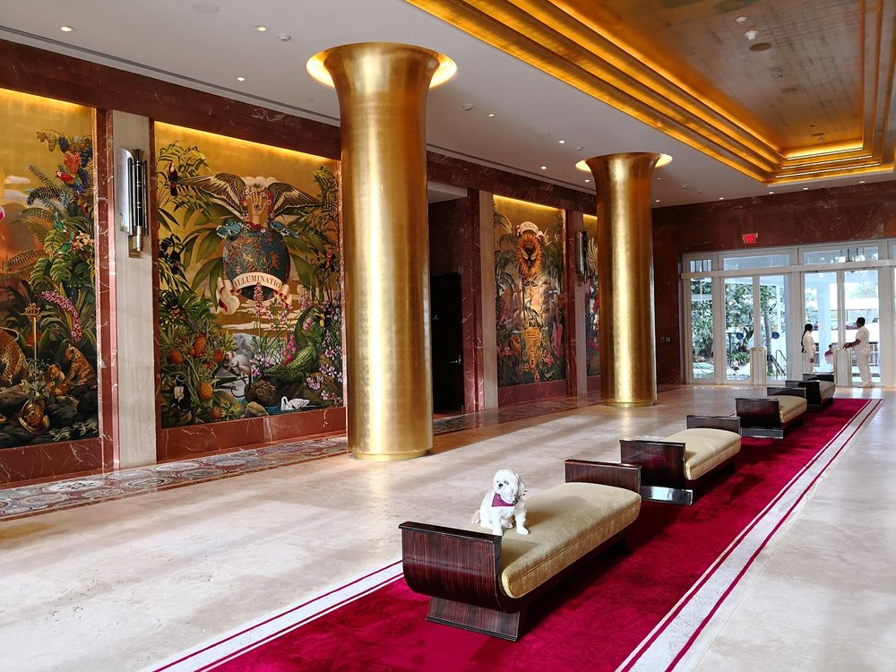 The grand, stately Faena lobby with  JetsetRuby .