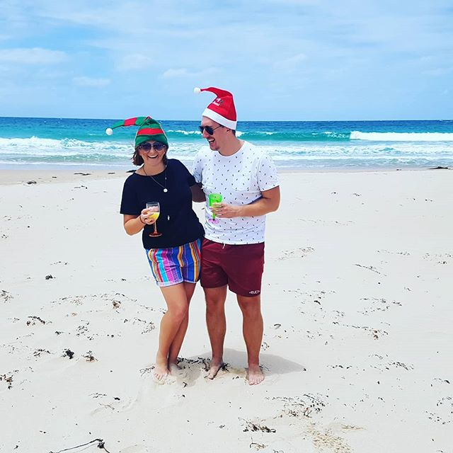 Christmas Day, mimosas on the beach.  Hope you all had as good a weekend as we did 😙
