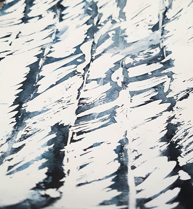 Humpback whale markings . . . #ink #whales #painting