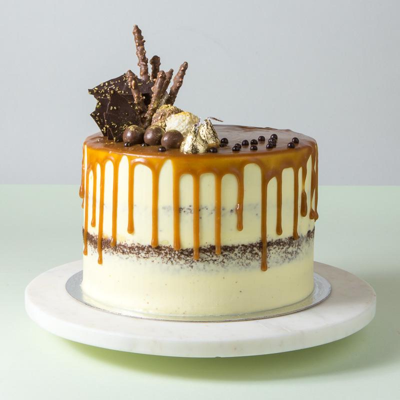 "8"" Banana Semi Naked Cake"