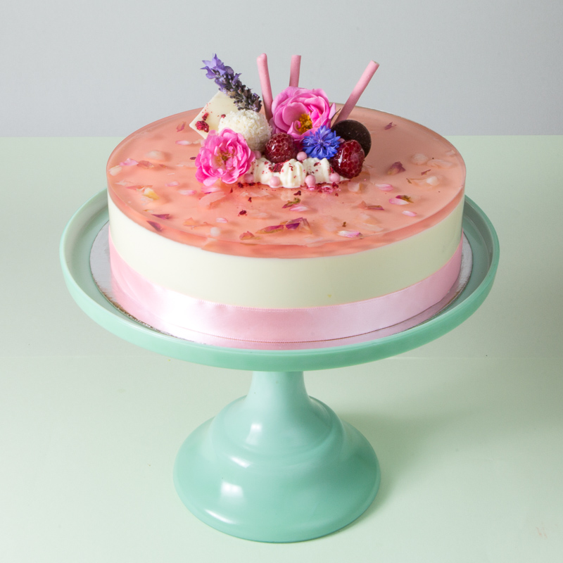 Lychee Mousse Cake