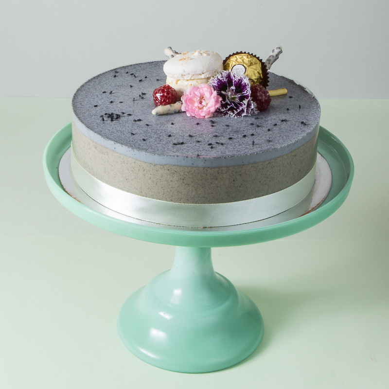 Black Sesame Mousse Cake