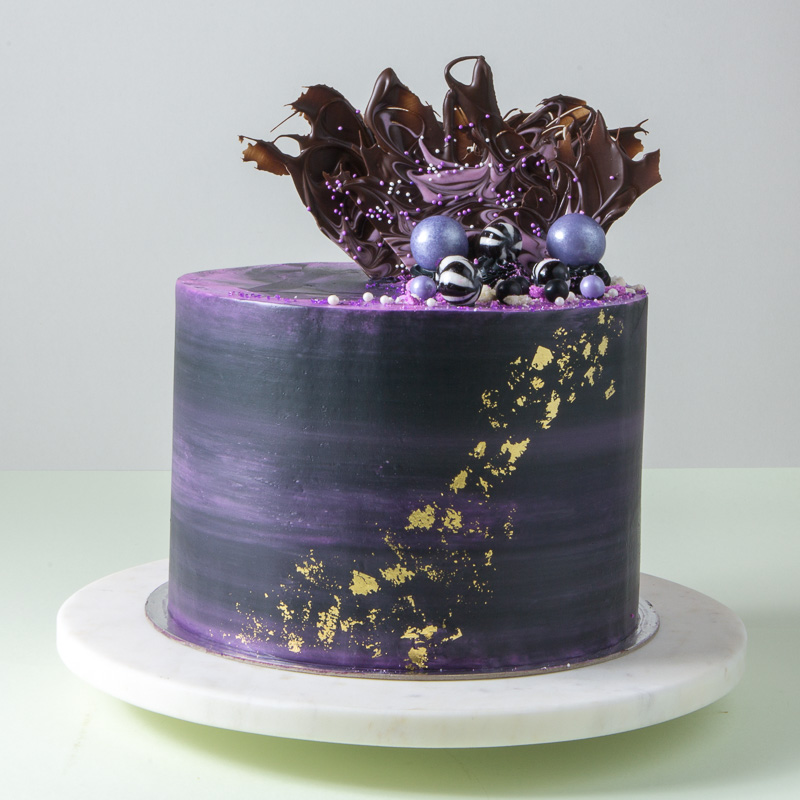 "8"" Black Forest Chiffon Cake (Galaxy)"
