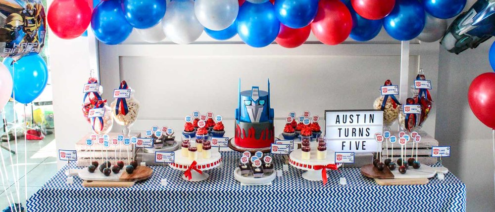 Transformers Party - Austin's 5 Year Birthday Party