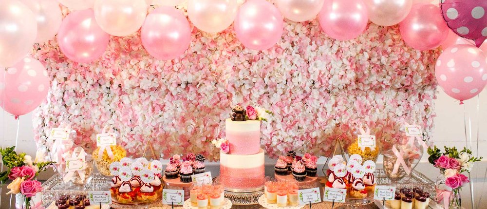 Pink Flower Party - Ashlynn's 100 Day Party