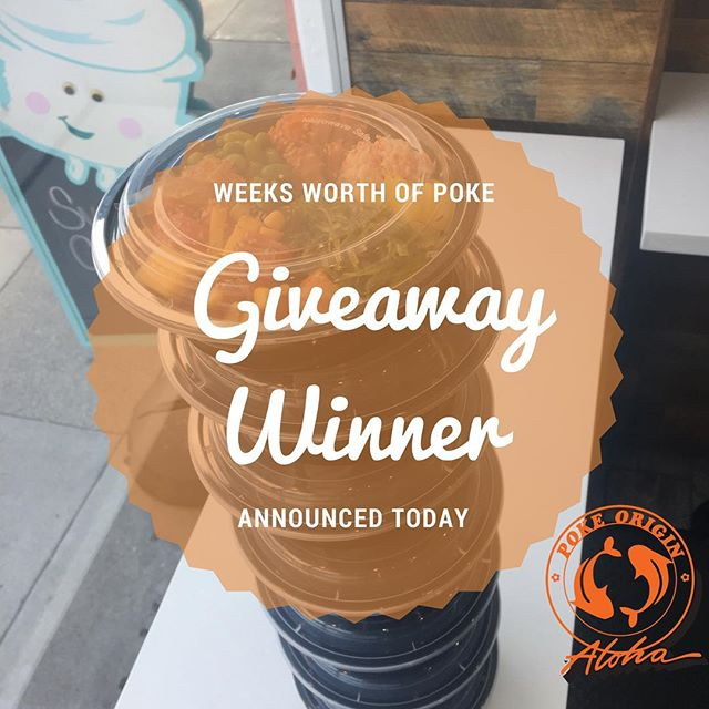 Shoutout to @ieatsf for partnering with us!  She will be announcing the winner at 8PM.  It's not too late to enter the contest! Simply  1) follow @thepokeorigin @ieatsf  2) go to @ieatsf page and tag a friend on the post with the poke bowl.  It's as simple as that!  #sf giveaway #seafoodlover #pokeorigin #lovepoke #delicious #dietfood #healthy #rawfish #free #contest #sunsetdistrict #foodie #fresh #saturdaymorning #goldengatebridge #yummy #foodblogger #upoutsf #bayarea #bayareafoodie