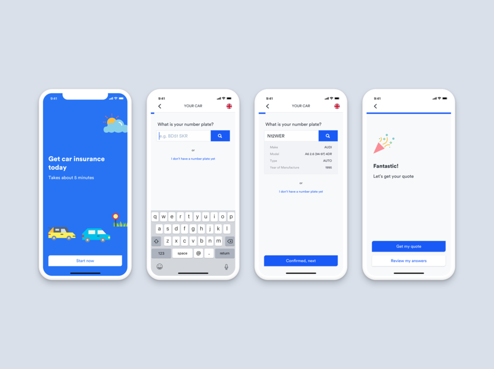 Quote Experience -  2018 · UX & UI · App · Interaction