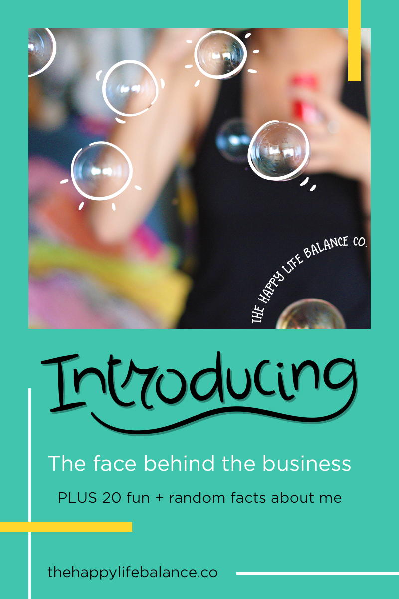 Introducing the face behind the business | The Happy Life Balance Co.