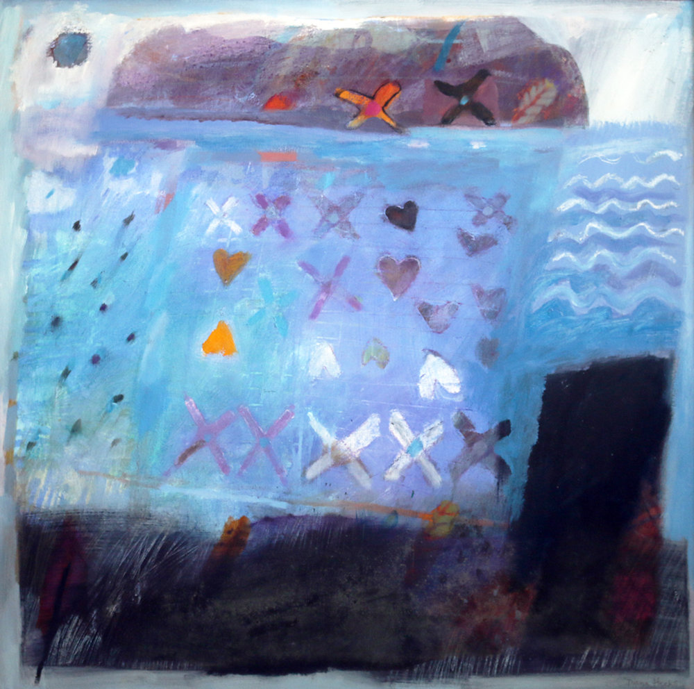 Diana Heeks  Ynys 1`   Mixed Media on canvas £1000