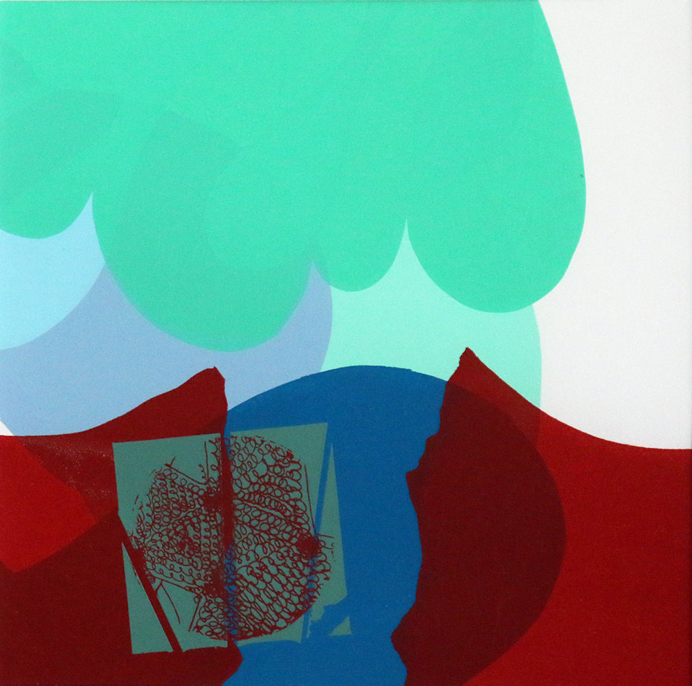 Eileen Newell  Reaching Out   Gouache on paper. Screenprint 1/1 £125