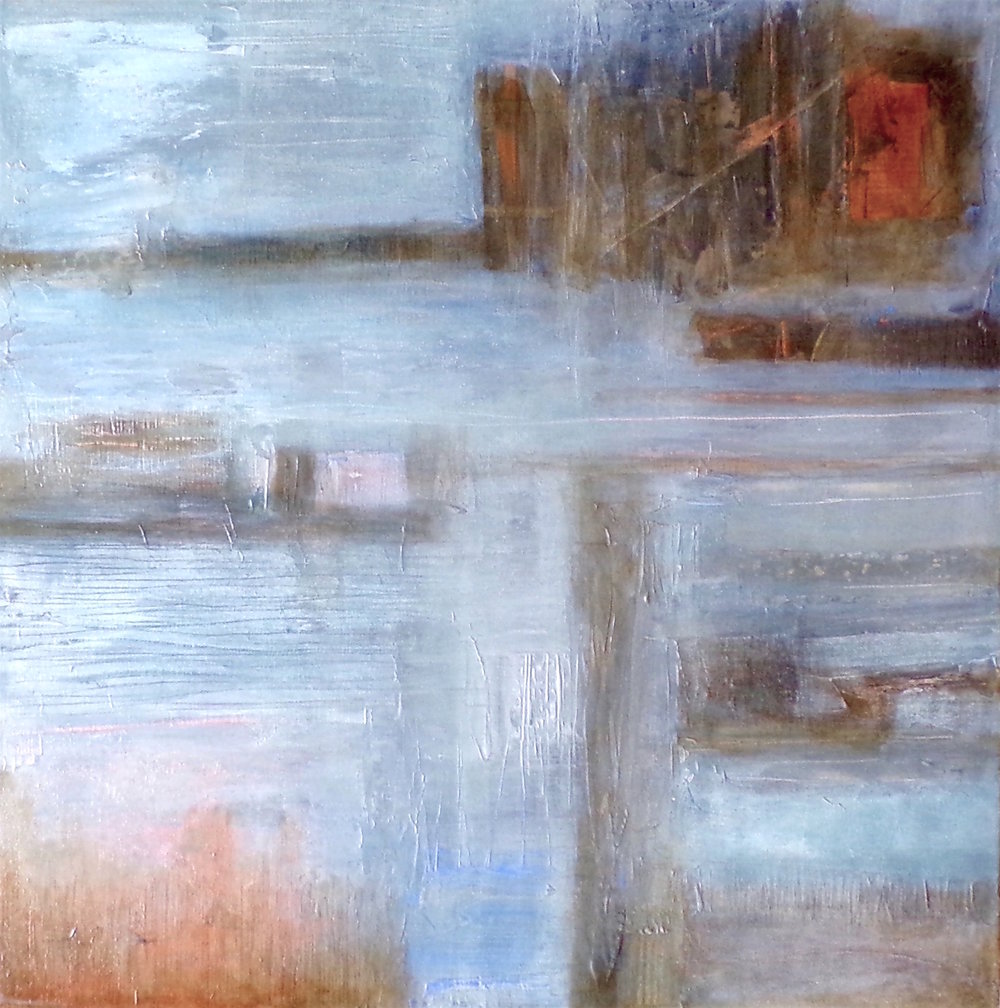 Patricia Mcparlin 'Across the wetlands' mixed media