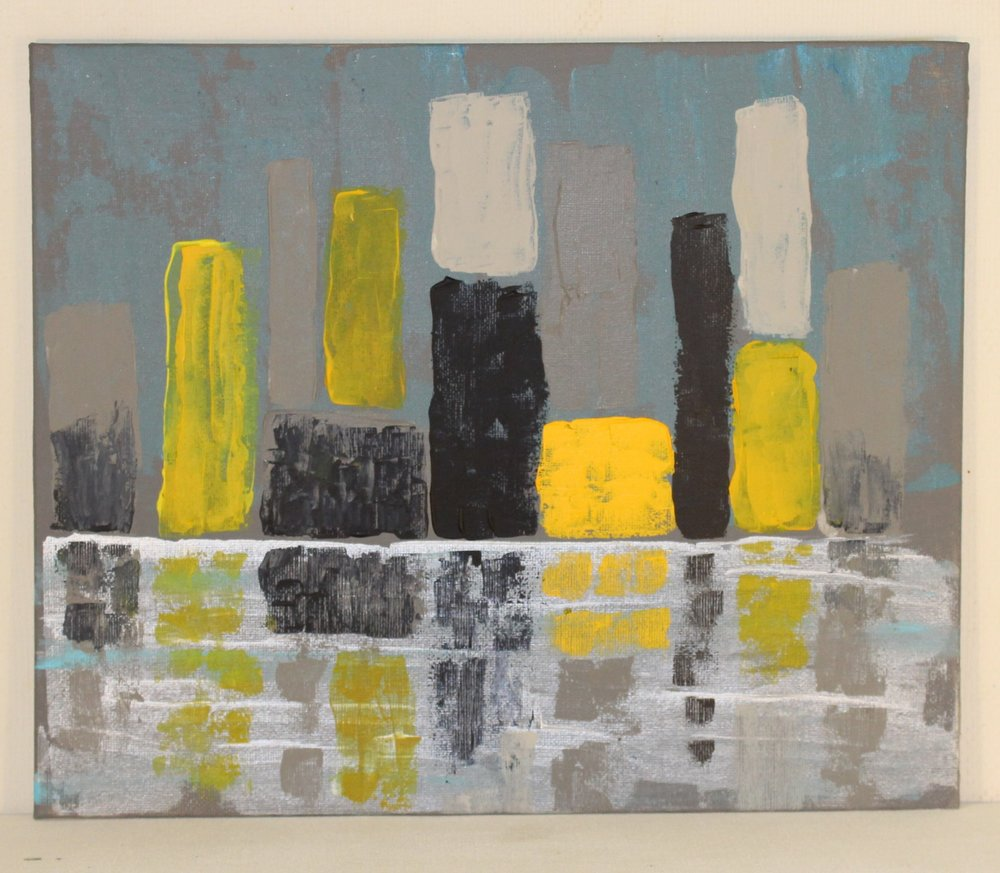 Ron Butler 'Water Front' acrylic on canvas