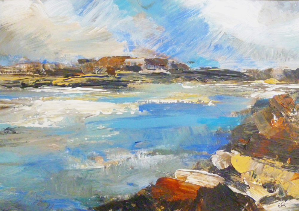 Elaine Graham 'Pembrokeshire Coastal' acrylic on board