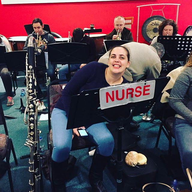 Nurse in call! #iswo #irishsymphonicwindorchestra #artaneschoolofmusic