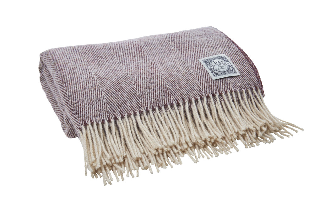 Essential Collection Throw in Damson Gin - Tolly McRae - £69.00
