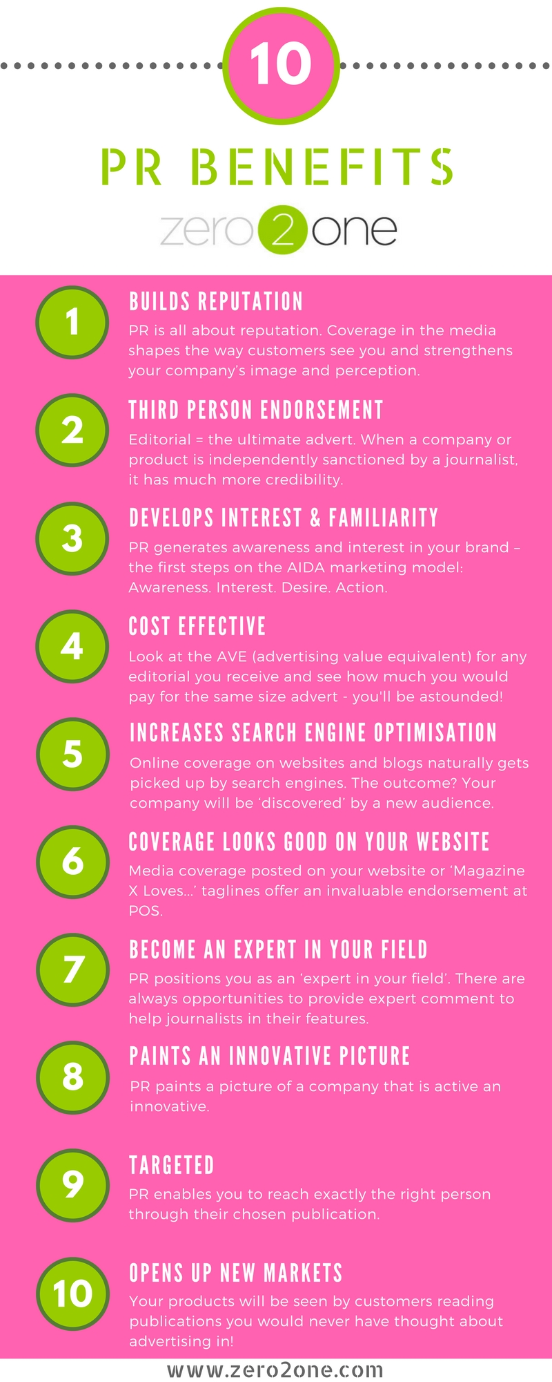 10 benefits of PR
