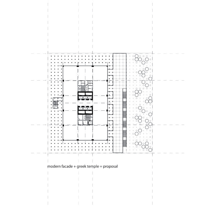 floor plan diagram - modernist style + classic style
