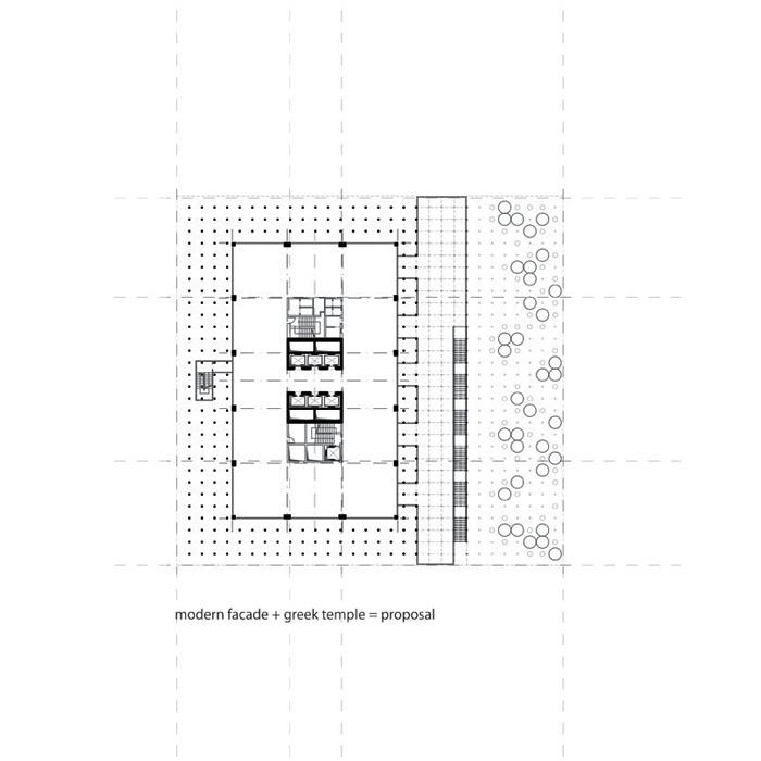 floor plan diagram - modernist style + classic style
