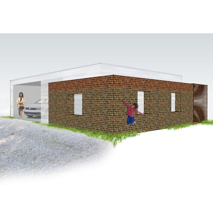 rendering of garage
