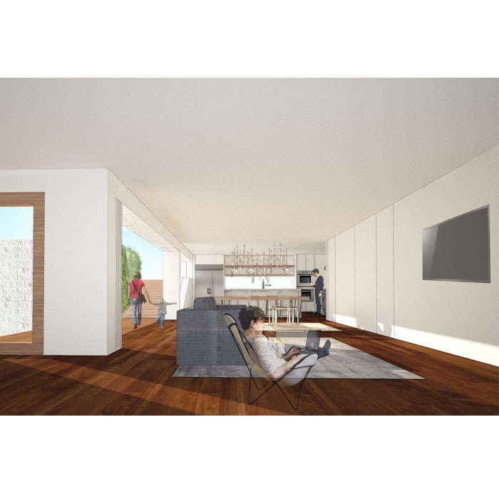 rendering of living space