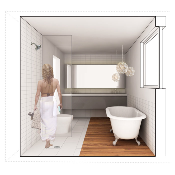 rendering of master bath