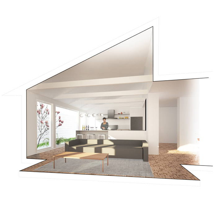 rendering of living room